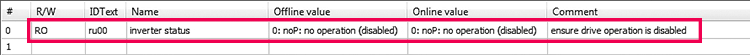KEB F5 Startup_Disable Drive Before Start