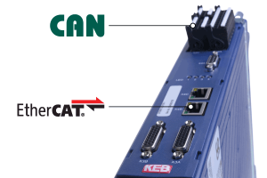 CoE can over EtherCAT drive