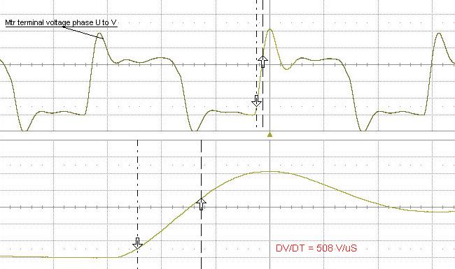 vfd voltage peaks
