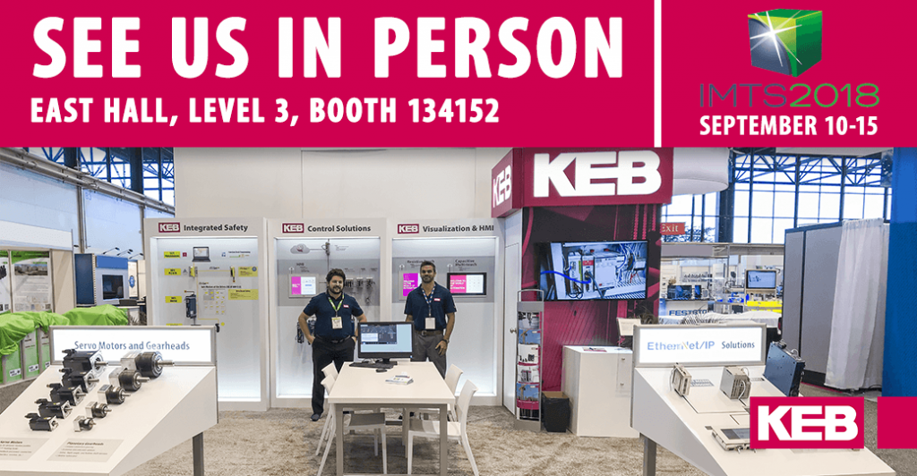 KEB America Booth IMTS Trade Show 2018