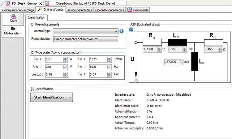 Confirm Motor Nameplate Data_Combivis Studio 6
